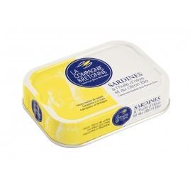 Sardines à l'huile d'olive et au citron bio - 115g