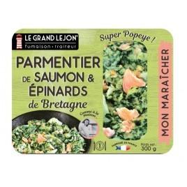 Parmentier au Saumon & Épinards de Bretagne