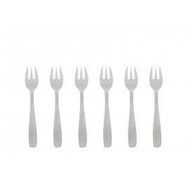 Fourchettes à huîtres INOX - 6 pièces