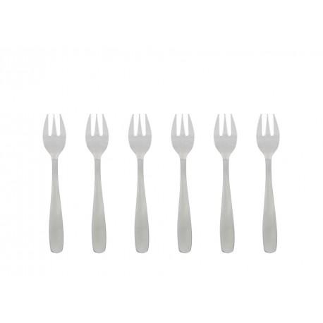 6 fourchettes à huîtres INOX