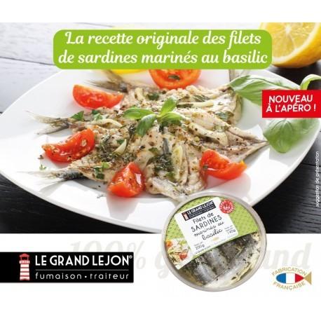 Sardines marinées au basilic