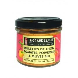 Rillettes de thon, aux tomates, poivrons et olives BIO