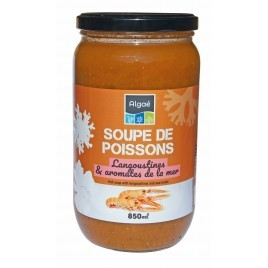 Soupe de poisson langoustines et aromates de la mer