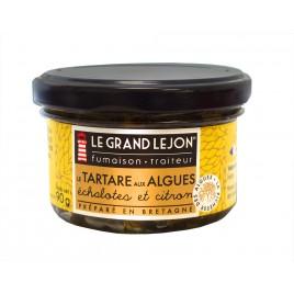 Tartare d'algues au citron et aux échalotes