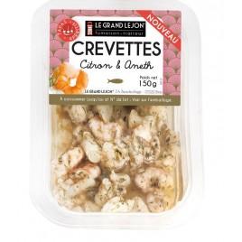 Crevettes citron aneth