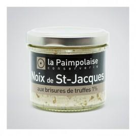 Noix de St-Jacques aux brisures de truffes (1%)