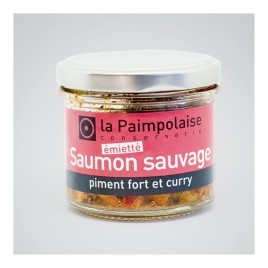 Émietté de saumon sauvage, piment fort et curry - 80g