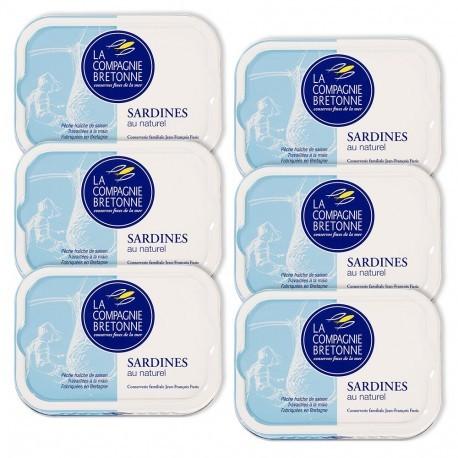 Sardines au naturel - Lot de 6