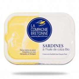 Sardines à l'huile de colza Bio - 115g