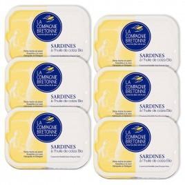 Sardines à l'huile de colza Bio - lot de 6