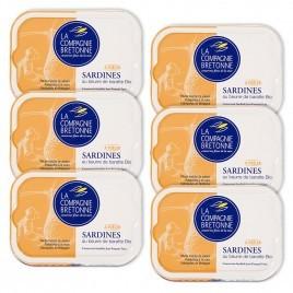 Sardines au beurre de baratte à poêler lot de 6