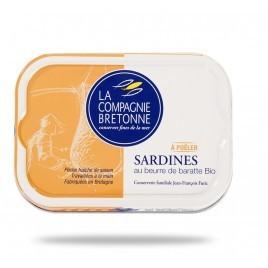 Sardines au beurre de baratte à poêler Bio - 115g