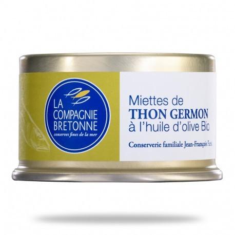 LES MIETTES DE THON BLANC GERMON À L'HUILE D'OLIVE BIO