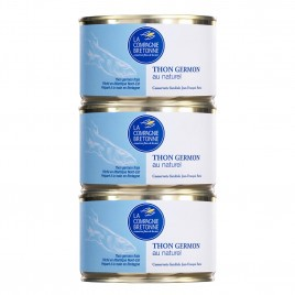 Thon blanc Germon au naturel 400g lot de 3