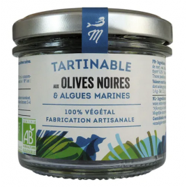 Black olives and seaweed tartare