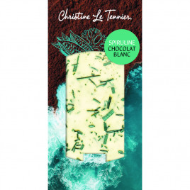 Chocolat blanc à la spiruline - 100g