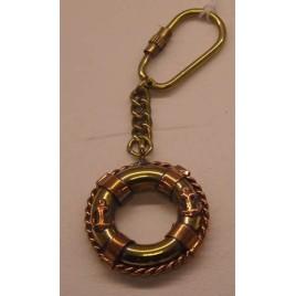 Porte clé bouée en laiton