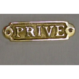 "Plaque en laiton ""privé"""