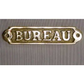 "Plaque en laiton ""bureau"""