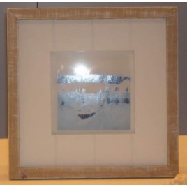 Cadre porte photo en bois cérusé naturel - Carré