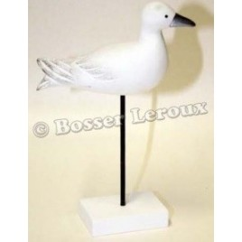 Mouette bois sur socle H 28cm