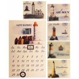 Calendrier perpétuel avec décor phare