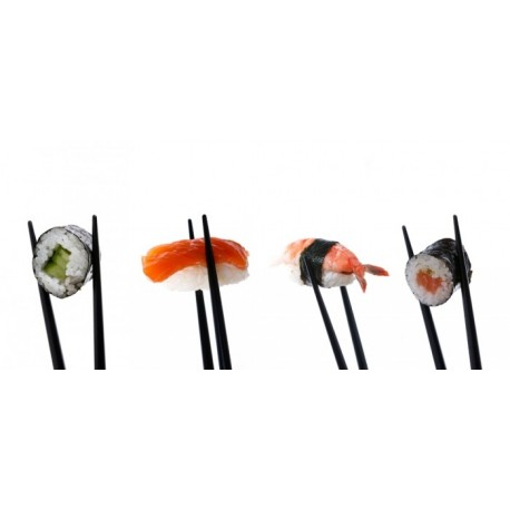 Kit pour sushis (saumon, thon, crevettes)