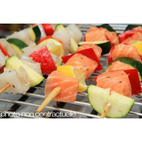 Brochettes de saumon et cabillaud - lot de 4