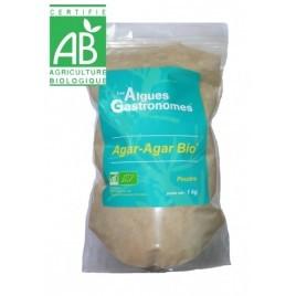 Agar agar BIO en poudre - sachet 1kg - Les Algues Gastronomes