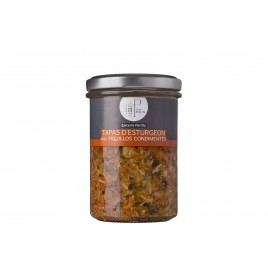 Sturgeon tapas with seasoned piquillos - 150g